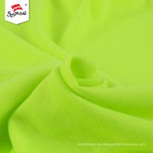 Tela de jersey de algodón de punto de poliéster verde personalizado
