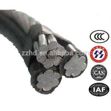 URD 4/0 2/0 Wire Direct Burial Triplex Aluminio oveahead Cable