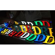 Personalize toda a cor Facelit Backlit corporativo LED outdoor carta sinais