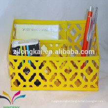 Factory direct creative metal mesh mini office modern desk organizer for stationery