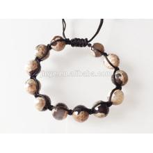 Bracelet perlé naturel de pierres précieuses pour les hommes