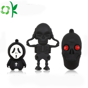 Keren Skeleton Knight Silicone Soft USB Stick Cover