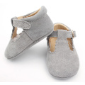 Real Suede Leather Baby Girls Dress T-Bar Shoes