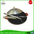 Commercial enamel coating big cast iron wok