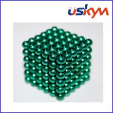 Jouets Buckyball à balles magnétiques revêtues vertes (T-020)