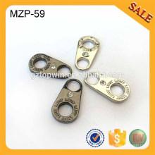 MZP59 En alliage de zinc à la mode promotionnelle revolue avec fermeture à glissière avec pierre