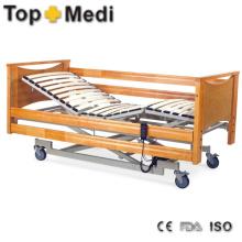 Mobiliario hospitalario Cama de madera Cama de hospital de acero de tres funciones