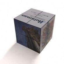 Custom promotional 3d advertising folding magnetic magic photo cube puzzle toys magic 3x3