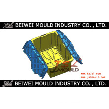 Plastic Storage Container with Hinged Lid Mould