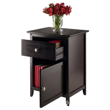 Brown Bedroom Cabinet with Drawers Night Stand Wood Beechwood End/Accent Table, Espresso