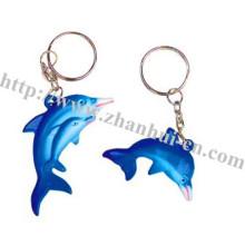 Plastische elegante Delphin-Schlüsselkette