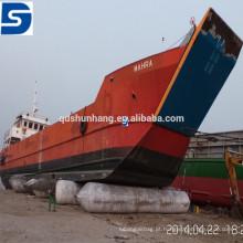 Airbag de borracha inflável marinha do fornecedor da fábrica de China para o lançamento e a aterrissagem do barco