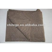 100% cachemire tricoté solide / couvertures simples / jetés de lit
