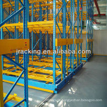 Save cost and space racks, Jracking warehouse high density store electric mobile 2nd hand pallet racking system