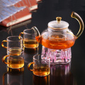 Blooming Flower Tea Set 600ml Tetera de vidrio / tetera