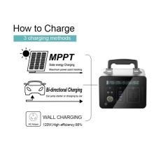 Generador solar de fuente de alimentación al aire libre 1000W