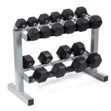 Wholesale hand weights dumbbell rubber dumbbell hexagon dumbbell