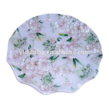 Acryl Fruchtschale in Blütenfarbe kann auch als Süßigkeitenhalter verwendet werden