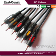 premium Dual Injection 3RCA-3RCA audio video cable