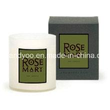 Bougie de soja parfumée en pot avec boîte cadeau pour mariage