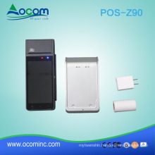 retail portable mobile handheld android pos terminal machine device hardware with NFC and thermal printer