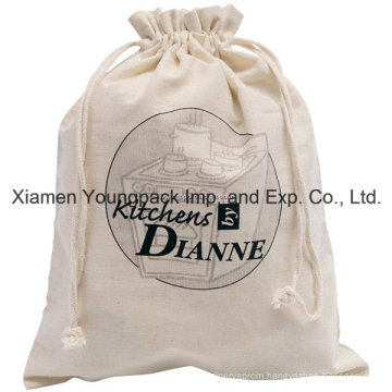 Promotional Custom Natural Cotton Drawstring Bag for Shoes