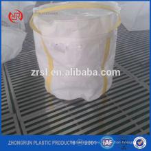 bolso grande de tamaño pequeño - bolsa de fibra con fondo pequeño de suare - que puede contener 300 kg solo bolsa de 2 bucles blancos