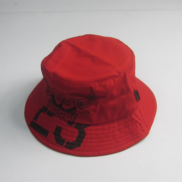 Women Red Print Bucket Hat