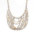 Perlenkette Halskette, Gold lange Kette Perle Halskette, moderne Perle Halskette Design