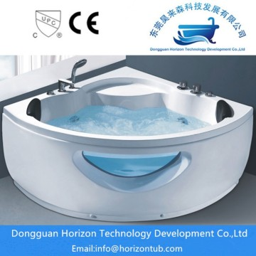 Corner freestanding whirlpool baths