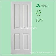 Porta de madeira do painel branco interior contemporâneo do MDF