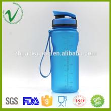 BPA бесплатная спортивная пустая синяя пластиковая бутылка для упаковки воды