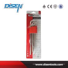 Nickel Plating Standard Long Flat Headallen Key Set