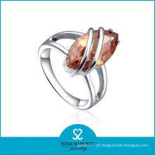 Melhor Vendedor Prata 925 Anéis de Pedra Cristal
