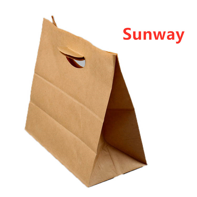 Brown kraft paper carry out bags