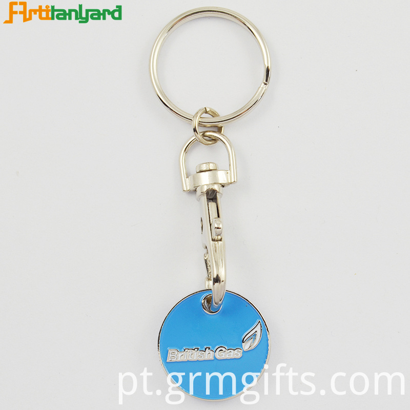 Customized Embossed Trolley Keychain