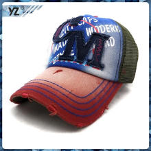 2015 new produce hat fabric appllique embroidery kid mes trucker cap custom promotional