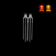 2 * 3 * 4mm Rectangulaire LED Bi-couleur R / Y Anode commune