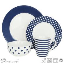 16PCS Cheap Price Decal Porcelain Dinner Set