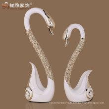 Polarisine design romantique design des amants de cygne pour cadeau de mariage