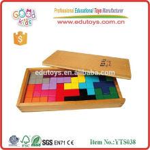 Tetris avec plateau box 12pcs pour enfants jeux de cerveau en bois dans un puzzle