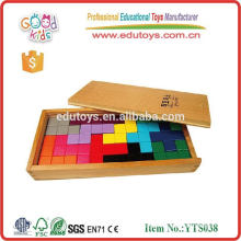 Tetris with tray box 12pcs for kids wooden brain games in puzzle