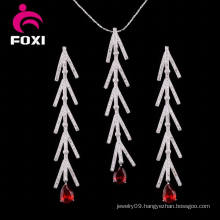 18k Gold Plated Copper Earring and Pendant Jewelry Set