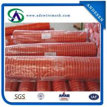 Orange warnender Sperrzaun-Plastiksicherheitszaun