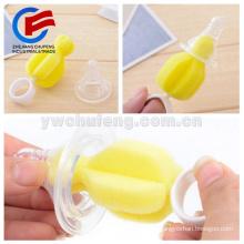 Venda quente presente de engarrafamento de leite 360 graus escova de limpeza completa esponja mamilo