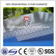 clear honeycomb hollow PC polycarbonate sheet