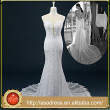 RASA-23 2015 Robe de mariée formelle à manches longues sans manches Robe de mariée en dentelle en dentelle pour mariage