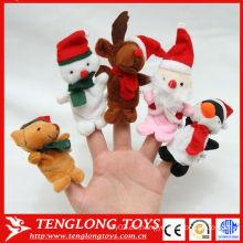 Navidad mini y animales en forma de peluche marioneta juguete