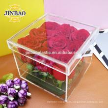 Caja de almacenamiento de acrílico transparente Jinbao 3 mm 5 mm