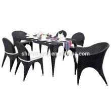 new design garden wicker furniture PE rattan dining chair